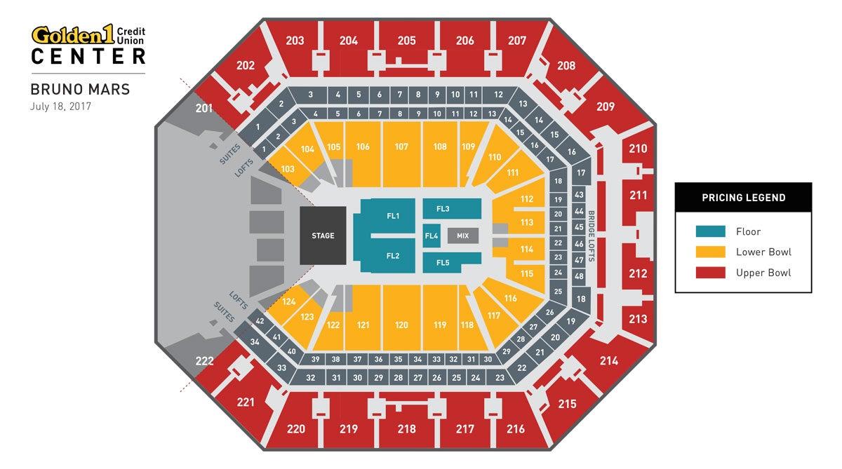 Bruno Mars Event Map