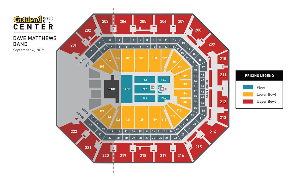 Dave Matthews Band Event Map