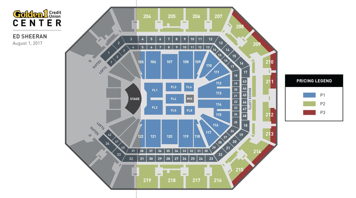 Ed Sheeran Event Map