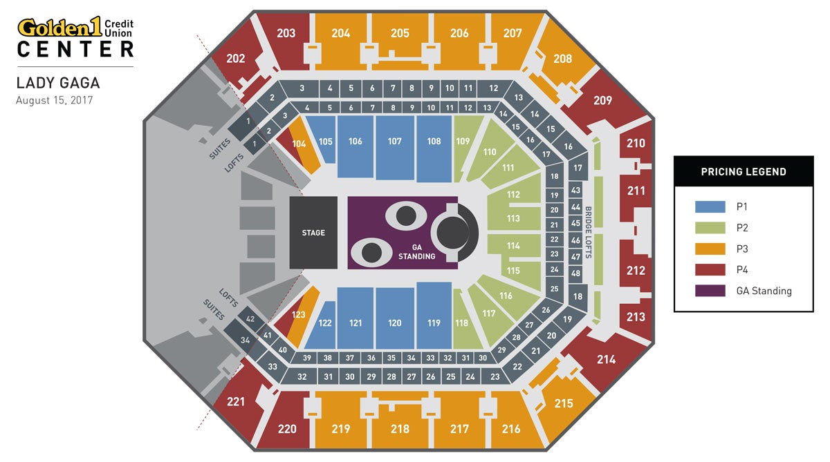 Lady Gaga Event Map