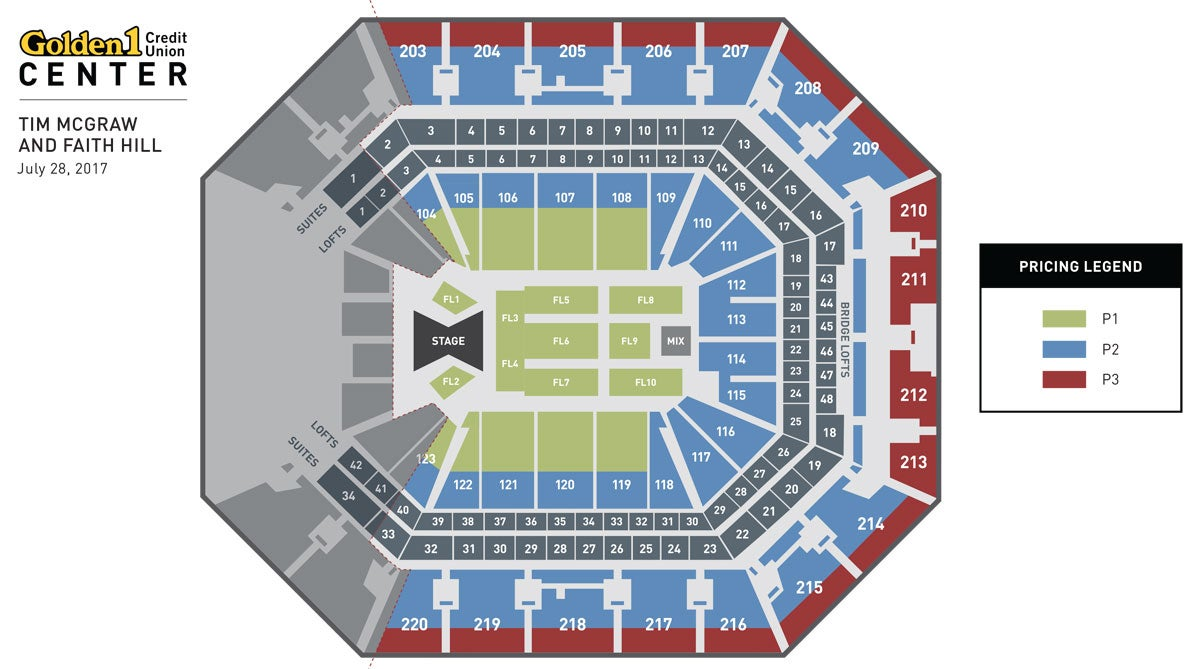 Tim McGraw & Faith Hill Event Map