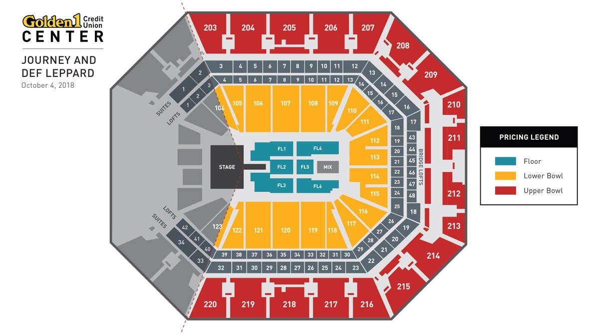 Journey & Def Leppard Event Map
