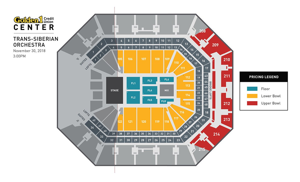 Trans-Siberian Orchestra Afternoon Show Event Map