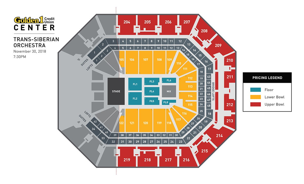 Trans-Siberian Orchestra Evening Show Event Map