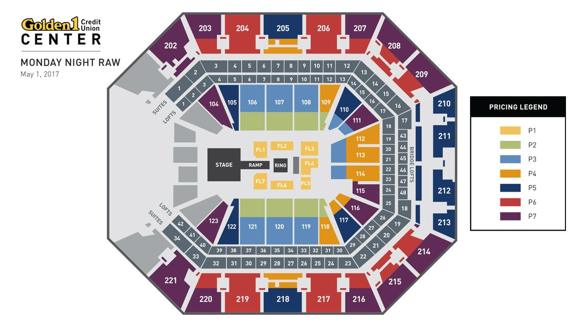 WWE Raw Event Map
