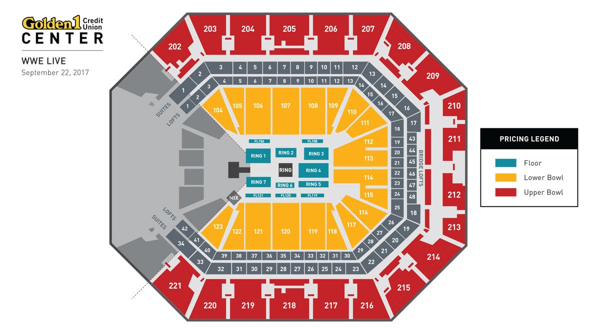 WWE Live Event Map