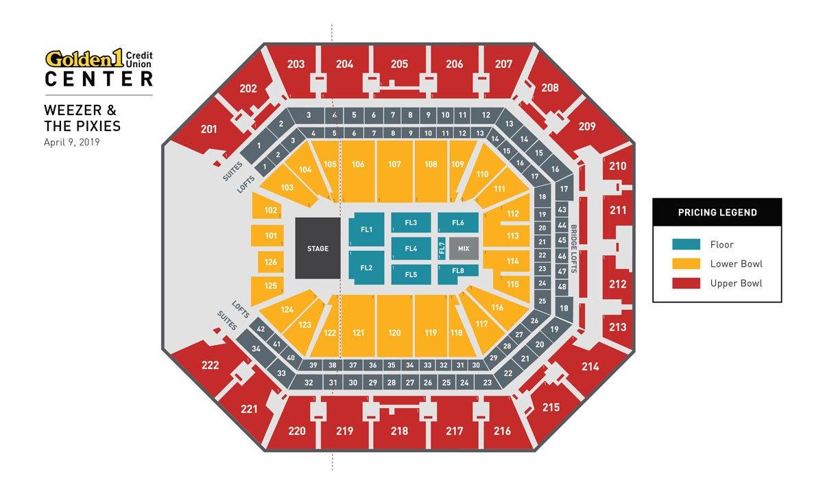 Weezer & Pixies Event Map