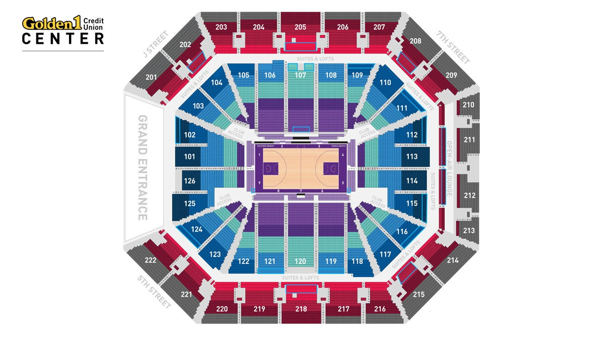Sacramento Kings Map