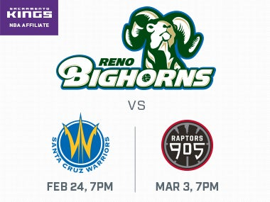 More Info forReno Bighorns vs Santa Cruz Warriors